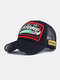 Unisex Cotton Patch Letter Embroidery Pattern Fashion Hip-hop Style Sunshade Baseball Hat - Black