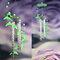 Luminoso Acrílico Wind Chime Regalo Cristal Plástico Windbell Home Puerta Ventana Colgante Colgante Decoración