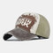 Washed Denim Retro Embroidery Baseball Cap Men And Women Cap Sun Hat Embroidery Hats - Coffee