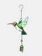 1 unidade Colorful Dragonfly Beija-flor Pingente Sino Tubo Wind Chimes Interior Exterior Jardim Enfeites de Decoração para Casa - #02