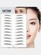 3D Eyebrow Tattoo Sticker Long Lasting Waterproof False Eyebrows Cosmetics - 14 Black