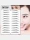 3D Eyebrow Tattoo Sticker Long Lasting Waterproof False Eyebrows Cosmetics - 17 Black