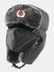 男性防寒冬用トラッパーハットマスクトラッパーハット付き厚手の冬用ハット耳栓 - #01