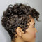Black Ultra Short Curly Hair High Temperature Fiber Soft Afro Small Curly Wigs - Black