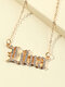 Elegant Letter Inlaid Diamond Women Necklace Twelve Constellation Pendant Necklace Jewelry Gift - Libra