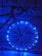 2M سلسلة عجلة دراجة جبلية ضوء البطارية USB قابلة للشحن 6 ألوان تكلم Flash مصباح ضوءs - أزرق