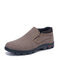 Men Cloth Breathable Ankle Shoes Non Slip Casual Slip On Shoes - Brown