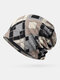 Women Cotton Plus Velvet Keep Warm Diamonds Pattern Casual Personality Elastic Beanie Hat - Gray
