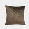 Pure Color Plush Geometric Pineapple Grid Sofa Pillow Living Room Bedside Pillowcase - Dark Coffee