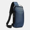 Men Oxford USB Charging Multi-Layers Waterproof Outdoor Crossbody Bag Chest Bag Sling Bag - Blue