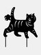 1PC 革新的なアクリルシミュレーション漫画猫屋外の庭の装飾挿入カードアート中空装飾工芸品家の庭の装飾品 - #02