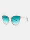 Unisex Metal Cat-eye Frame Hollow Bridge Colorful Lens Anti-UV Sunglasses - #03