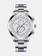 سبيكة غير القابل للصدأ أعمال فولاذية حزام كوارتز Watch تقويم ثنائي العين Watch - رقم 11