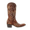Large Size Retro Women Rivet Pattern Casual Pointed Toe Cowboy Boots - Brown