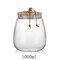 Cork Transparent Glass Tea Cans Sealed Fower Tea Pots Candy Food Grain Storage Tanks - White