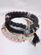 Vintage Multicolor Beautiful Opal Bracelet Temperament Multi-layer Tassel Bracelet - #09
