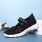 Big Size Women Mesh Breathable Comfy Walking Casual Sneakers - Black