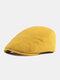पुरुषों और महिलाओं के ठोस रंग आकस्मिक आउटडोर आगे टोपी फ्लैट टोपी टोपी टोपी - पीला