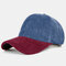 Collrown Men & Women Corduroy Contrast Color Casual Youth Personality Sunvisor Curve Brim Baseball Hat - #01