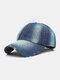 Unisex Denim Solid Color Ripped Edge Sun Protection Fashion Baseball Cap - #04