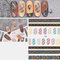 3D Sports Trendy Style Sign Nail Stickers Waterproof DIY Colorful Tips Nail Decals Manicure - 38