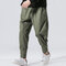 Herren National Retro Lose Freizeithosen Baumwolle Harlan Hose Joggers Pencil Pants