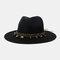 Men And Women British Wind Jazz Straw Hat Outdoor Sunscreen Breathable Big Brim Sun Hat - Black