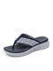 Lostisy Casual Beach Holiday Knitted Non-slip Lightweight Platform Clip Toe Slippers - Blue