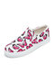 Plus Size Women Casual Butterfly Print Canvas Flats Loafers - Pink