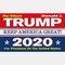 90 * 150 سم علم ترامب 2020 علم الحملة - 05