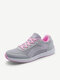 Women Athletic Breathable Mesh Lace Up Running Shoes