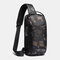 Men Oxford USB Charging Multi-Layers Waterproof Outdoor Crossbody Bag Chest Bag Sling Bag - Camouflage