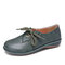 LOSTISY Splicing Bowknot Lightweight Lace Up Casual Flat Shoes - Green