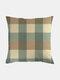 Classic Plaid Pattern Linen Cushion Cover Home Sofa Art Decor Throw Pillowcase - #09
