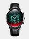 Luxury 30 Meters Waterproof Clock Male Casual Mesh Belt Quartz Watch - Black Dial Black Shell Black Lea