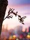 23-Types Metal Garden Tree Insert Decor Hummingbird Owl Simulation Animal Art Ornament - #03