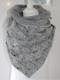 Women Solid Color Scarf Shawl Wrap Versatile Thick Warmth Shawl Cat Print Scarf - Grey