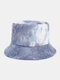 Women & Men Corduroy Multicolor Tie Dye Casual Soft Outdoor All-match Bucket Hat - #02