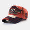 Men & Women Eagle Embroidered Letter Pattern Baseball Cap Embroidery Washed Distressed Cap - Red