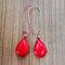 Bohemian Drop-Shaped Turquoise Pendant Women Earrings Jewelry Gift - Red