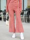 Solid Color Button Vintage Bell Bottom Casual Pants For Women - Pink