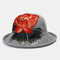 Ladies Curling Cap Travel Shopping Sun Hat Dome Embroidered Beach Hat Breathable - #03