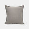 Solid Color Sofa Pillowcase Polyester Linen Creative Car Cushion Room Living Room Pillow - Grey2
