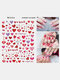 3D Nail Art Stickers Heart Colorful Red Lip Nail Transfer Decals Valentine's Day Tips - #08