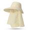 Cappello da donna con protezione solare estiva in tinta unita Cappello da muschio per esterno Cappello rimovibile casual - #01