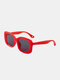 Unisex Full Wide-sided Square Frame UV Protection Fashion Sunglasses - Red