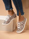 Large Size Comfy Cloth Lace Floral Lace Up Flat White Shoes For Women - Pink