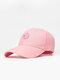 ユニセックスコットン無地幾何学模様刺繡ファッションオールマッチ野球帽 - ピンク