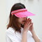Women Collapsible Summer Shading Empty Top Hat - Rose