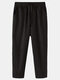 Mens 100% Cotton Striped Breathable Casual Everyday Pants - Black